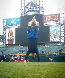 Handstand on Coors Field